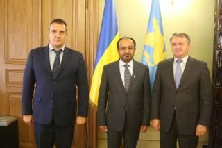 Олександр Ганущин зустрівся з Надзвичайним і Повноважним Послом ОАЕ Салемом Ахмедом Аль-Каабі