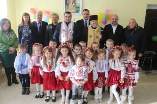 Олександр Ганущин взяв участь у відкритті дитячого садочка на Сколівщині